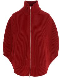 MM6 by Maison Martin Margiela 'camioner Circular' Jumper - Red