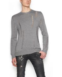 Les Hommes - Destroyed Sweater - Lyst