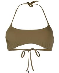 Fisico Bandeau Swimsuit Top - Green