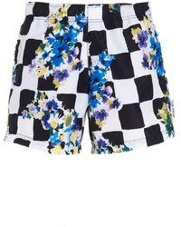 Off-White c/o Virgil Abloh 'check Flower' Swimshorts - Blue