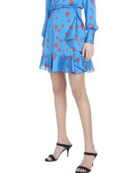 KENZO - Ruffled Rose-print Short Skirt - Lyst