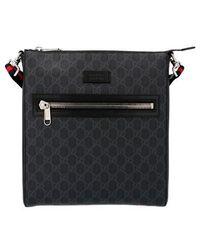 Gucci 'GG Supreme' Crossbody Bag - Black
