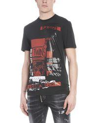 DSquared² - T-shirt 'Military punk' - Lyst
