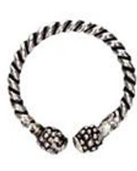 GIACOMOBURRONI Crossed Ring - Metallic