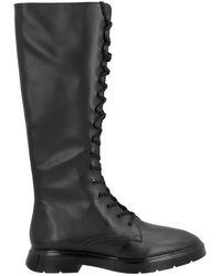 Stuart Weitzman 'mckenzee' High Combat Boots - Black