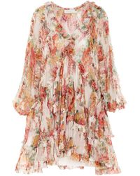 Zimmermann 'mae Frill' Dress - Multicolour