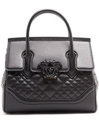 f65802bd3db8 Lyst - Versace Shoulder Bag Medusa Button Used P453 in Black