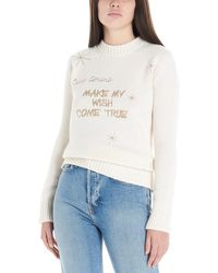 Giada Benincasa Christmas Capsule 'make My Wish Come True' Sweater - White