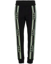 Fendi Contrast Logo Tape sweatpants - Multicolor