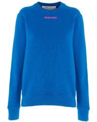 Golden Goose Deluxe Brand 'athena Sneaker Lover' Sweatshirt - Blue