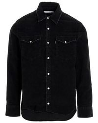Department 5 'sanfra' Corduroy Shirt - Black