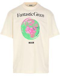 MSGM - T-shirt 'Fantastic green' - Lyst