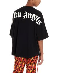 Palm Angels T-shirt In Jersey Di Cotone - Nero