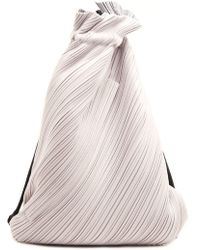 Pleats Please Issey Miyake -  suede Link Drawstring Pleat  Backpack - Lyst b60156716641e