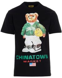 Chinatown Market - T-shirt 'Smiley Sketch Basketball Bear Tee' capsule 'Printables' - Lyst