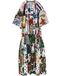 Dolce & Gabbana Abito maxi stampa floreale - Multicolore