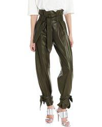 The Attico Pantalone pelle - Verde