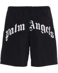Palm Angels Bermuda Shorts Swimsuit - Black