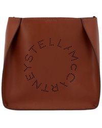 Stella McCartney Tracolla 'Stella logo' - Marrone
