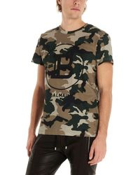 Balmain T-shirt camouflage - Verde