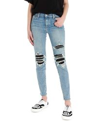 Amiri Jeans destroyed 'Mx1' - Blu