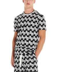 Dolce & Gabbana T-shirt logo all over - Nero