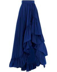 Max Mara 'abadan' Taffetà Skirt - Blue