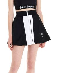 Palm Angels 'track' Mini Skirt - Black