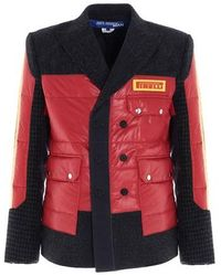 Junya Watanabe Pirelli Patch Caban Coat - Red