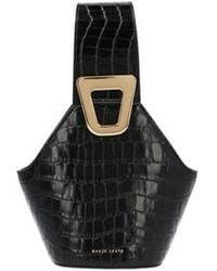 Danse Lente Johnny Xs Crocodile-effect Leather Bucket Bag - Black