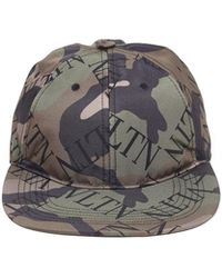 33126bf9dec Lyst - Valentino Green Psychedelic Camouflage Cap in Green for Men