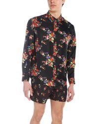 Dior Black Floral-print Silk Shirt