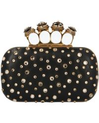 Alexander McQueen Pochette 'Four ring box' - Nero