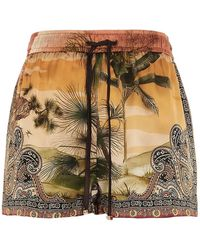 F.R.S For Restless Sleepers Short seta 'Jaguar in the oasis' - Multicolore