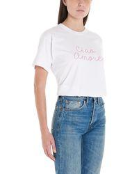 Giada Benincasa T-shirt 'Ciao amore' - Bianco