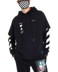 Off-White c/o Virgil Abloh - Graphic Print Layered Hoodie - Lyst