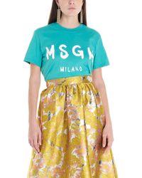 MSGM T-shirt logo - Verde