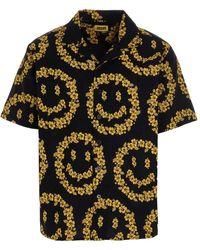 Chinatown Market Camicia 'Smiley Floral' - Nero