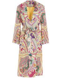 Etro 'zante' Trench Coat - Multicolor