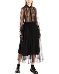 Noir Kei Ninomiya Tulle Chermisier Dress - Black