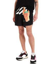 Off-White c/o Virgil Abloh Shorts sportivi con stampa - Nero