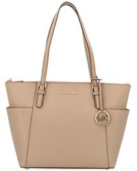 39ff46931096 MICHAEL Michael Kors Jet Set Medium Dressy Tote in Brown - Lyst