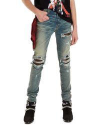 Amiri Jeans 'Mx1 animal print' - Blu