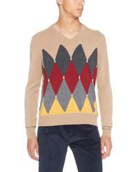 Ballantyne - Diamond Pattern Sweater - Lyst