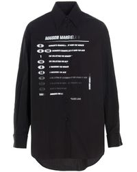MM6 by Maison Martin Margiela - Camicia stampa frontale - Lyst