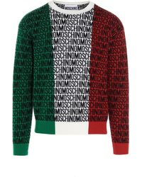 Moschino All-over Logo Sweater - Green