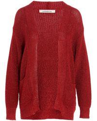 Laneus Cardigan lurex - Rosso