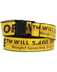 Off-White c/o Virgil Abloh 'industrial' Belt - Yellow
