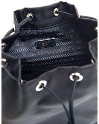 Prada Vela Bucket Bag - Black