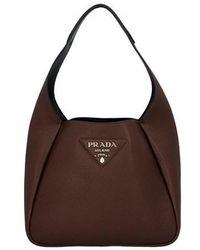 Prada 'hobo' Shoulder Bag - Brown